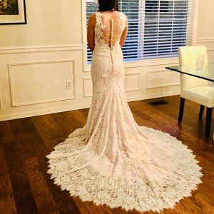 BHLDN Wedding Gown Floral Lace